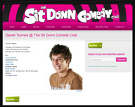 Daniel Townes at the Sit Down Comedy Club