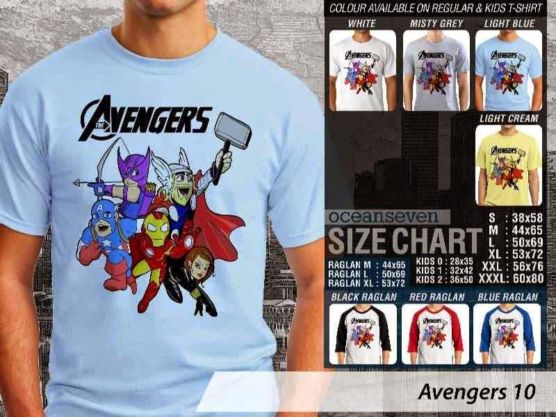 Jual Kaos Captain America iron man thor 10 Avengers