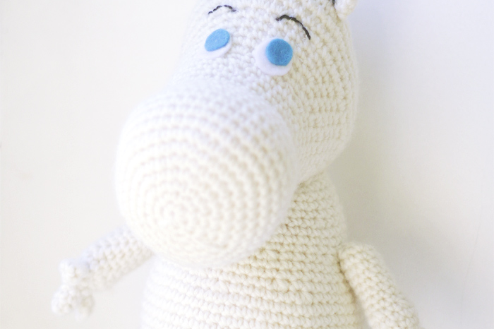 Moomin character easy to crochet  free amigurumi pattern how to crochet a moomin made by The Sun and the Turtle
