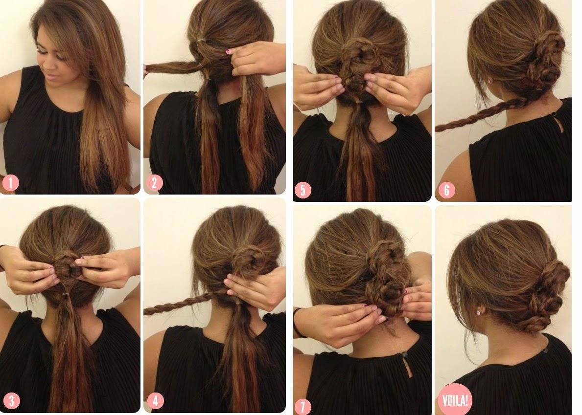 Peinados sencillos casuales paso a paso - Peinados fiesta faciles ...