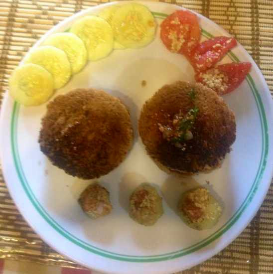Saffola Masala Oats Vegetable Cutlets Burger