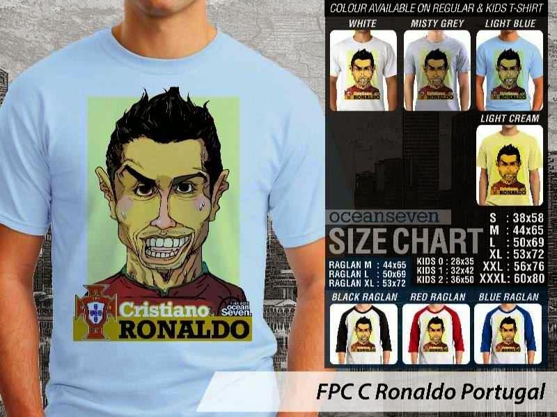 KAOS Cristiano Ronaldo Portugal Karikatur Bola distro ocean seven