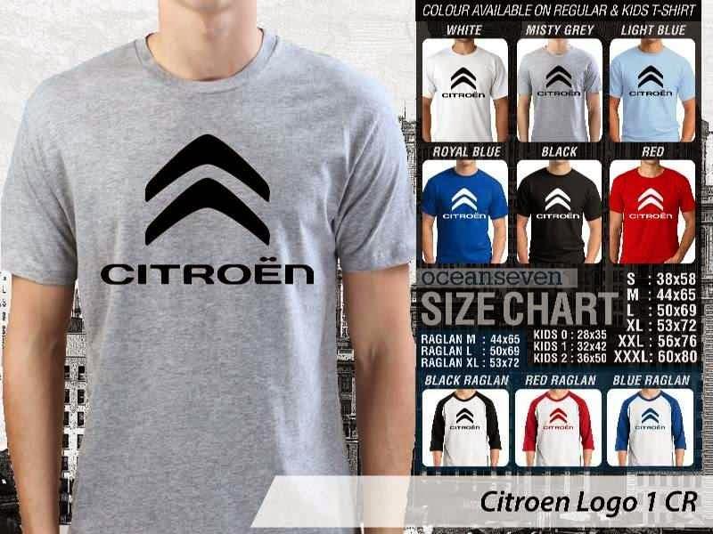 KAOS Citroen Logo Otomotif distro ocean seven