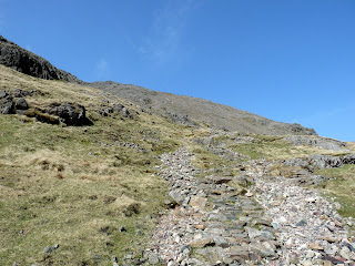 Path up Great Gable. I had to have a few rests up to Great Gable as the day had been quite a long one!!