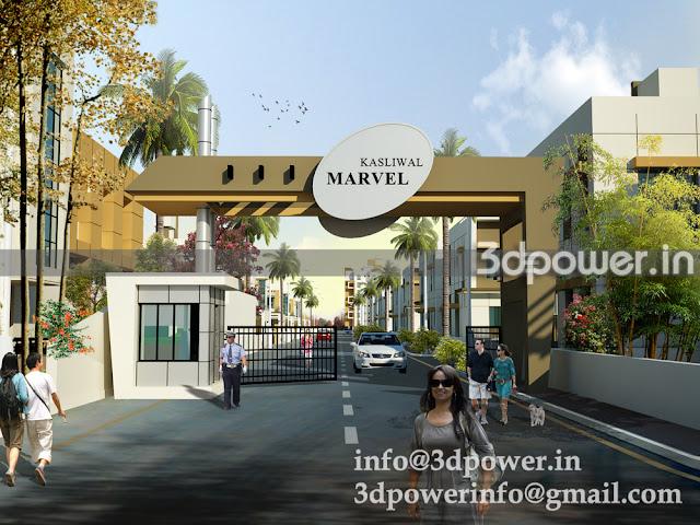 Entrance Gate for Marvel Township.