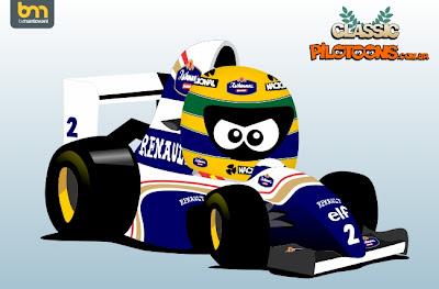 Айртон Сенна Williams 1994 pilotoons