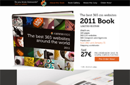 The best css websites of the year in a book