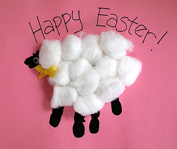 Handprint Easter lamb craft, Easter crafts, kids crafts