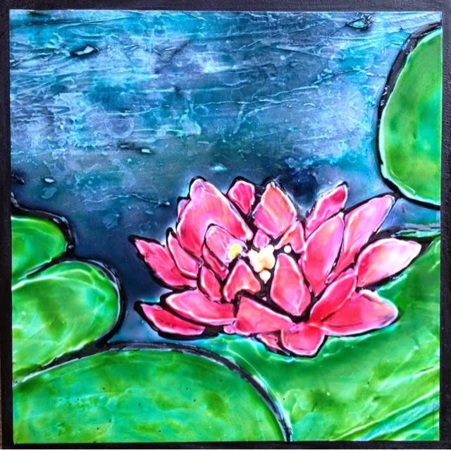 painting pond mini Robin Baratta artist