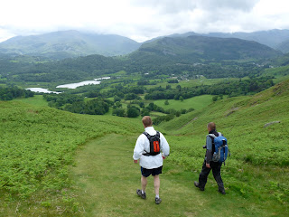 The path back to Elterwater ... Simon nd Dave lead the way