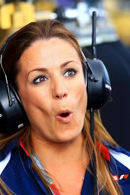 удивленное выражение лица Натали Пинкхэм на Гран-при Австралии 2012
