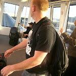 Chriiis surfs the airport train