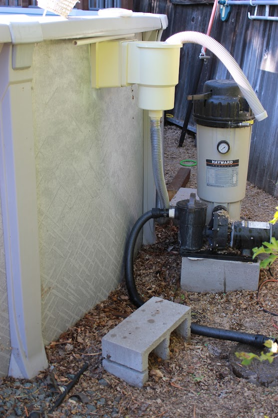 Pool pump and filter hook up