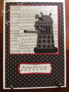 Dr Who Dalek punch art card cards stampin up stampin' up! sci fi robot geeky