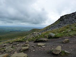 Nearing the summit of Ingleborough