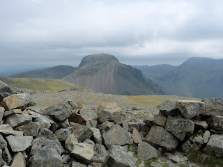 Great Gable from Kirk Fell Summit Shelter.