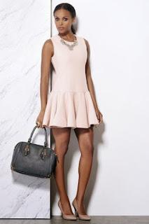 Get the Look:  Rihanna Pink Drop Waist Dress