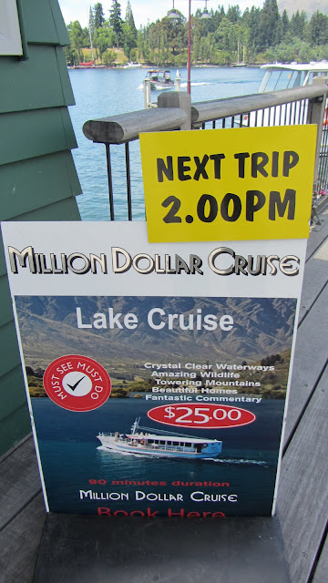 The Million Dollar Cruise on Lake Wakatipu.