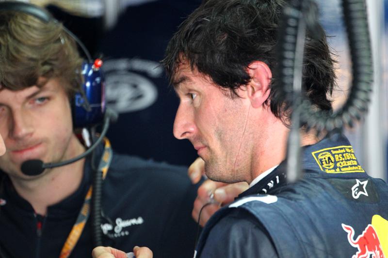 Гэвин Уорд и Марк Уэббер на Гран-при Бразилии 2011