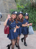 Girls dressed up for the month-long Halloween celebration at the Universal Studios theme park
