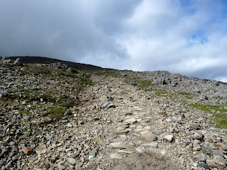 Descending the main path from Great Gable to Styhead