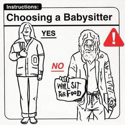 Baby Instructions: Choosing a Babysitter