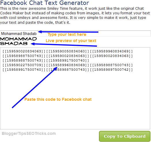 different font style for Facebook chat