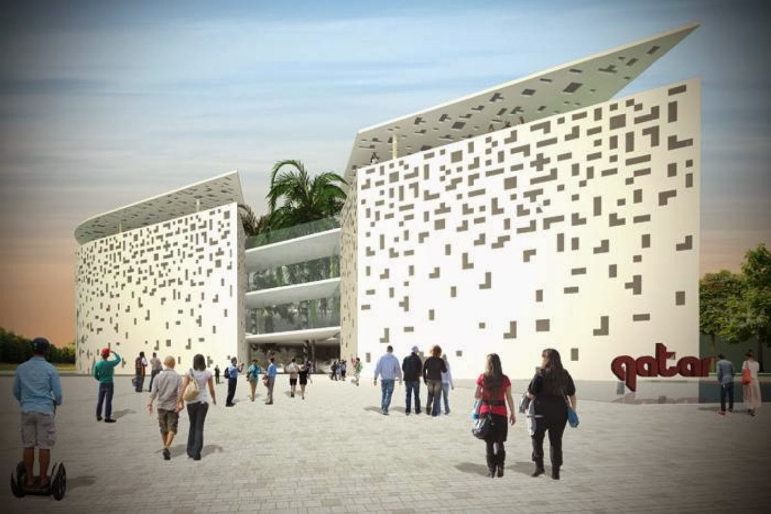 Milano, Italia: [QATAR PAVILION AT THE EXPO 2015 BY ANDREA MAFFEI]