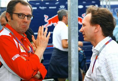 Стефано Доменикали и Кристиан Хорнер на Гран-при Австралии 2012