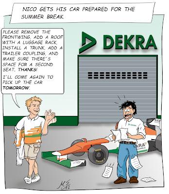 Нико Хюлькенберг готовит Force India для лета - комикс из твиттера гонщика - 3 августа 2012