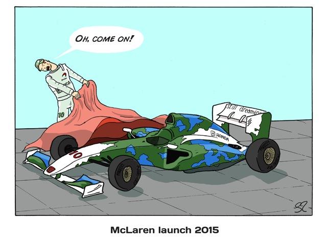 Презентация McLaren в 2015 - комикс Stuart Taylor