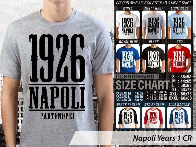 kaos bola bola Napoli 6 Lega Calcio distro ocean seven