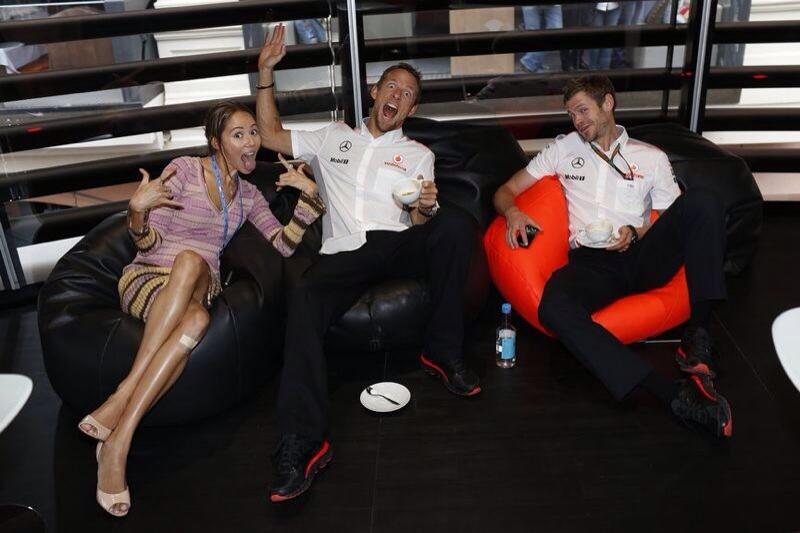 Джессика Мичибата, Дженсон Баттон и Майкл Кольер на Гран-при Монако 2013