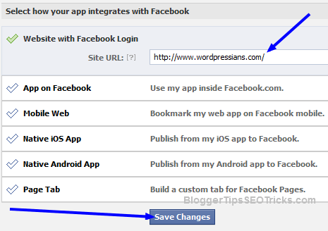 how to change setting in Facebook app