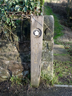 A finger post for my footpath leading away from the village ...