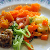 Eggplant, Cucumber, Carrot, Pumpkin, Potato, and Tomato... Delicious! - Casablanca, Morocco