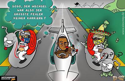 переход Льюиса Хэмилтона в Mercedes - комикс aleXstep