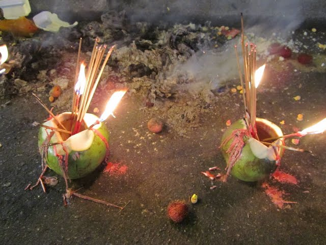 food for hungry ghosts during Hungry Ghost week in China town, KL