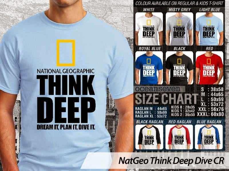Kaos NatGeo Think Deep Dive CR Diving distro ocean seven