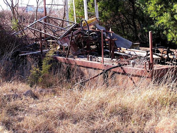 abandoned barge