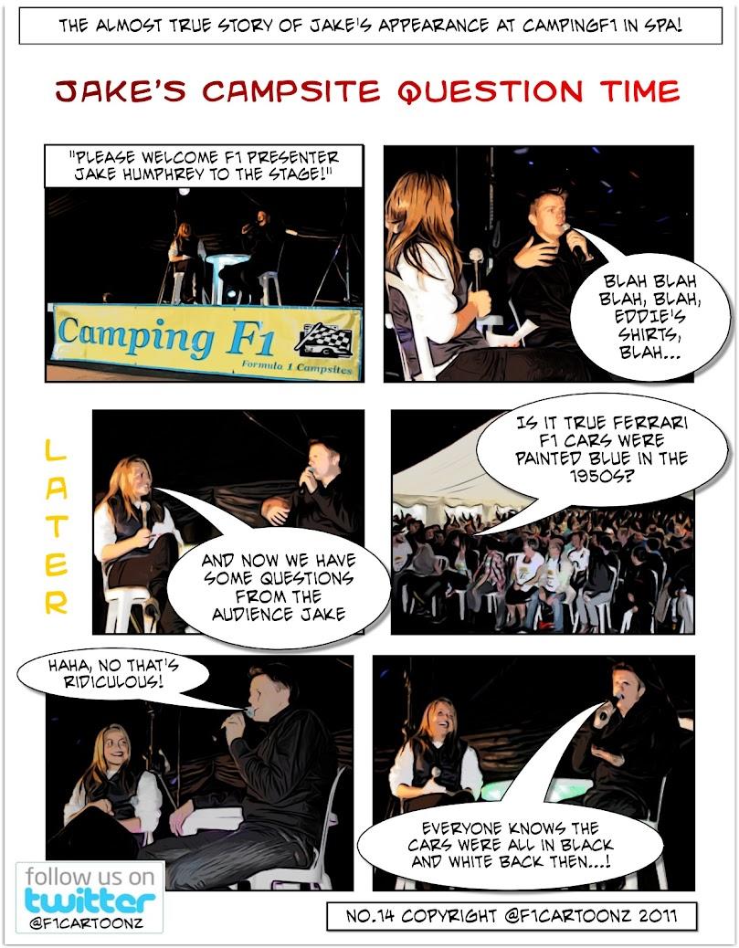Jake's Campsite Question Time F1Cartoonz No14