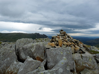 Rossett Pike Summit and the Langdale Pikes