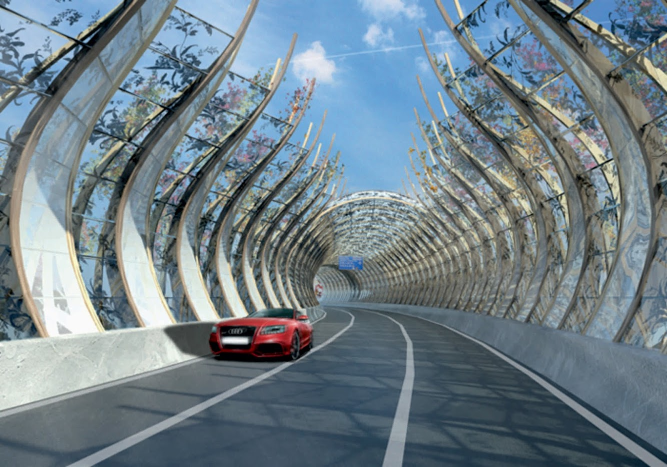 Rte Twisk, Tai Mo Shan, Hong Kong: Highway Noise Barrier by Bread Studio