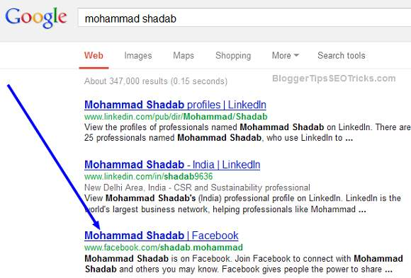 Shadab facebook profile on google