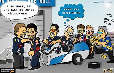 неудачи Марка Уэббера на Гран-при Китая 2013 - комикс aleXstep