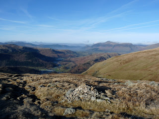 Northern and Western Fells from ascent of the Sticks Pass