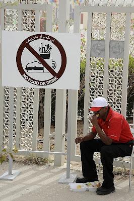 ланч охранника на Гран-при Бахрейна 2012
