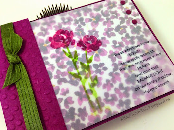 Linda Vich Creates: My Least Favorite Card To Create. Painted Petals float on vellum above the coordinating Painted Blooms designer paper on this sympathy card.