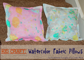 Watercolor Fabric Pillows