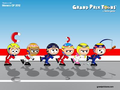 комикс Grand Prix Toons Skate or die по Гран-при Монако 2012